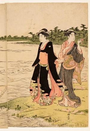 Torii Kiyonaga: The Sumida River Ferry - Honolulu Museum of Art