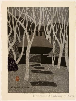 朝井清: Winter in Giö-ji - ホノルル美術館
