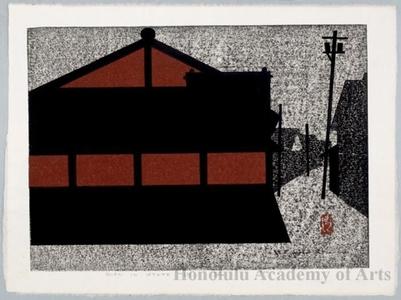 朝井清: Gion in Kyoto (I) - ホノルル美術館