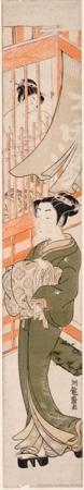 Isoda Koryusai: In Front of the Bathhouse - Honolulu Museum of Art