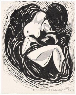 Onchi Koshiro: Mother and Child - Honolulu Museum of Art