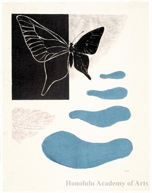 Onchi Koshiro: Poem No. 8: Season of Butterflies - Honolulu Museum of Art