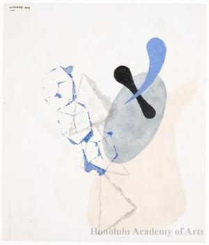 Onchi Koshiro: Poeme 20, No.4: Fairy-tale in the clouds - Honolulu Museum of Art