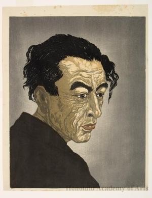 Onchi Koshiro: Author of Ice Isle (Hyötö): Portrait of Hagiwara Sakutarö - Honolulu Museum of Art