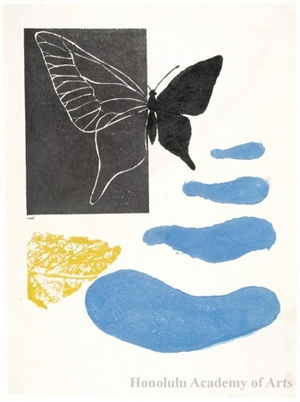 Onchi Koshiro: Poem No. 8: Season of Butterflies - Honolulu Museum of Art