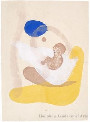 Onchi Koshiro: Image No.6 Motherhood (1) - Honolulu Museum of Art