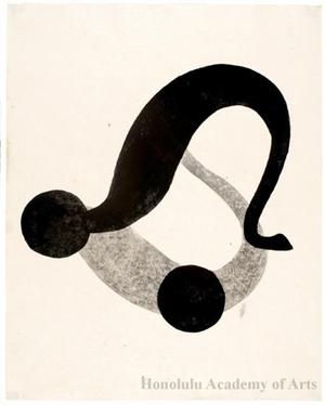 Onchi Koshiro: Image No. 7: Black cat (c) - Honolulu Museum of Art