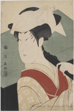 Utagawa Kunimasa: The Onnagata Actor Nakamura Noshiö II as Gotobei's Wife, Tokujo in the Play Kaeribana Yukimo Yoshitsune - Honolulu Museum of Art