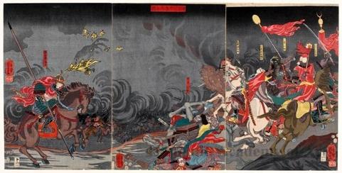 Utagawa Kuniyoshi: The Great War at Kawanakajima - Honolulu Museum of Art