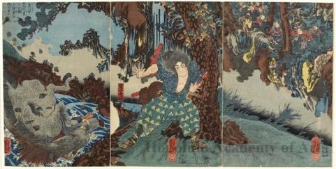 Utagawa Kuniyoshi: In The Mountains - Honolulu Museum of Art
