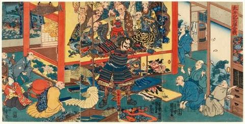 歌川国芳: Battle of Hyögo - ホノルル美術館