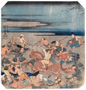 Utagawa Kuniyoshi: Battle Scene (descriptive title) - Honolulu Museum of Art