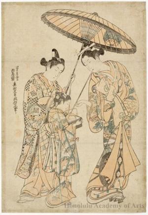 奥村政信: Segawa Kikujirö and Sanogawa Ichimatsu - ホノルル美術館
