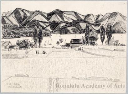 橋本興家: Lake Nojiri - ホノルル美術館