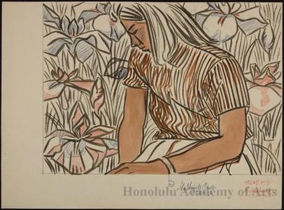 Okiie: Young Woman and Iris - Honolulu Museum of Art