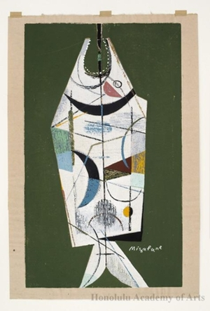 Mizufune Rokushü: Abstract Fish - ホノルル美術館