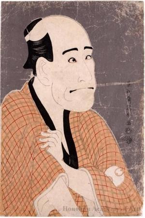 東洲斎写楽: Actor Arashi Ryüzo in role of Moneylender, Ishibe Kinkichi - ホノルル美術館