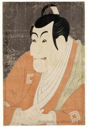 Toshusai Sharaku: Actor Ichikawa Ebizö as Takemura Sadanoshin in the play, Koi-Nyöbö Somewake Tazuna - Honolulu Museum of Art