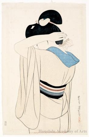 Ito Shinsui: A Lady in Under Kimono - Honolulu Museum of Art