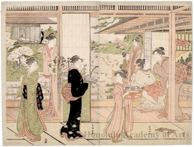 Katsukawa Shuncho: The Doll Festival at a Military Household - Honolulu Museum of Art