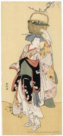 勝川春好: Actor Ichikawa Yaozö III - ホノルル美術館