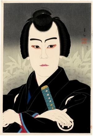 名取春仙: Ichikawa Sumizö as Shirai Gonpachi - ホノルル美術館