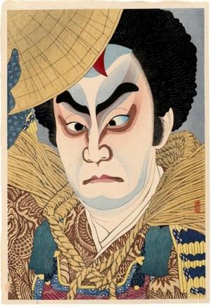 名取春仙: Ichikawa Chusha as Takechi Mitsuhide - ホノルル美術館