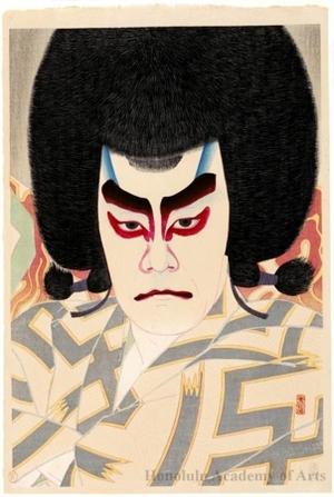 Natori Shunsen: The actor Ichikawa Sadanji II as Narukami Uejin - Honolulu Museum of Art