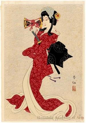名取春仙: Bando Shucho as Shizuka - ホノルル美術館