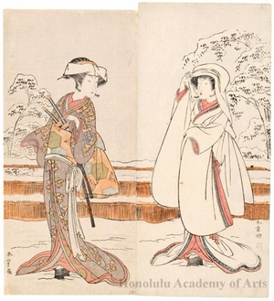 Katsukawa Shunsho: Segawa Kikunojö III as Konami and Nakamura Rikö I as Tonase - Honolulu Museum of Art