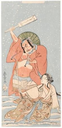 勝川春章: The Actor Nakamura Sukegorö II and the Onnagata Actor Segawa Kikunojö II - ホノルル美術館
