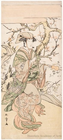Katsukawa Shunsho: Segawa Kikunojö III as Tea-whisks Seller - Honolulu Museum of Art