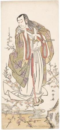 Katsukawa Shunsho: Nakamura Nakazö I as Uji-no-Jöetsu (Kusunoki Masayuki) - Honolulu Museum of Art