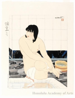 Ishikawa Toraji: Nude at Her Bath - Honolulu Museum of Art