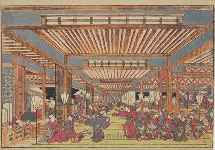 Utagawa Toyoharu: Year-end Dance Party in the New Yoshiwara Pleasure Quarter - Honolulu Museum of Art