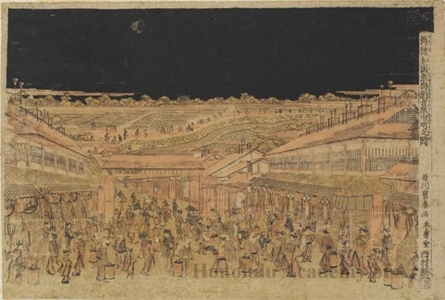 Utagawa Toyoharu: The Scene of Shin Yoshiwara Nakano-chö in Japan - Honolulu Museum of Art