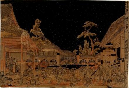 Utagawa Toyoharu: Wedding Procession of Foxes - Honolulu Museum of Art
