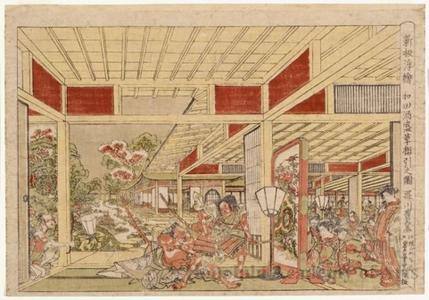 Utagawa Toyoharu: Pulling Off the Armor at Wada's Banquet - Honolulu Museum of Art