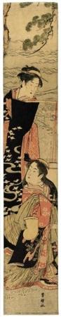 歌川豊国: Two Women at Seashore (Descriptive Title) - ホノルル美術館
