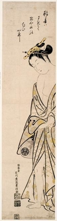 Ishikawa Toyonobu: After the Bath - Honolulu Museum of Art