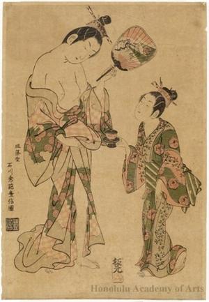 Ishikawa Toyonobu: Courtesan And Kamuro - Honolulu Museum of Art