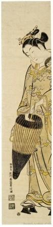 Ishikawa Toyonobu: Girl With Umbrella - Honolulu Museum of Art