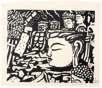 Hiratsuka Unichi: Fragments of Buddhist Sculpture at the Usuki Site in Öita - Honolulu Museum of Art