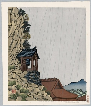 Hiratsuka Unichi: Yabakei-Rakan-ji in Rain - ホノルル美術館