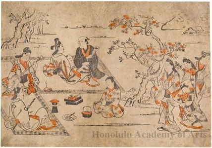Unknown: Picnic Under the Cherry Trees - Honolulu Museum of Art