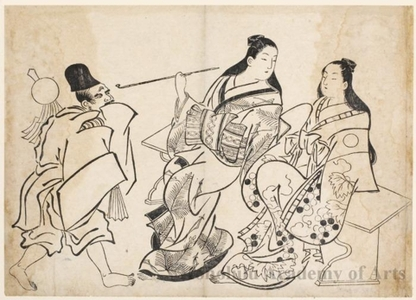 Unknown: Seated Courtesans and Priest - Honolulu Museum of Art
