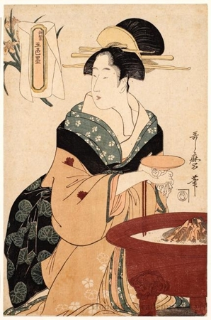 Kitagawa Utamaro: Brazier - Honolulu Museum of Art