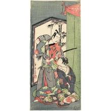 Ippitsusai Buncho: The Kabuki actors Ichikawa Yaozö II and the Onnagata Nakamura Matsue I - Honolulu Museum of Art
