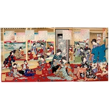 Toyohara Chikanobu: The Picture of Women Sewing - Honolulu Museum of Art
