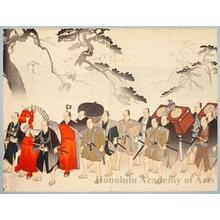 豊原周延: Imperial Procession at Ueno - ホノルル美術館